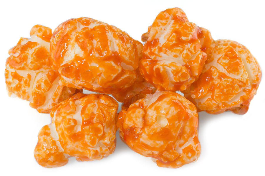 Buy fresh, orange flavored popcorn online (available in tins or bags), and have your gourmet popcorn order shipped anywhere in the Continental US.