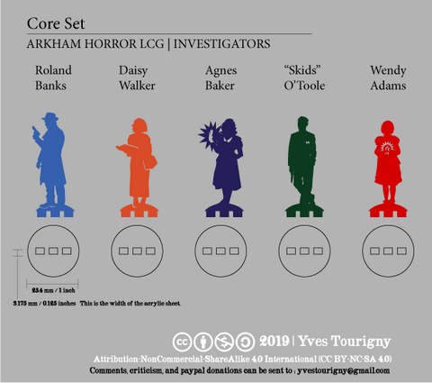 Arkham Horror LCG Compatible Investigator Bits - Big Set 2
