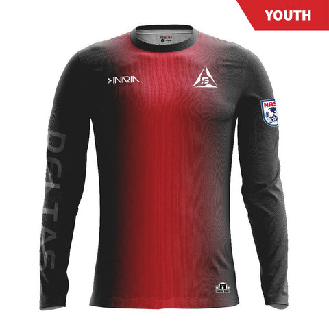 SF Deltas 2017 Authentic Inaugural Season Youth Home Jersey - Long Sleeve
