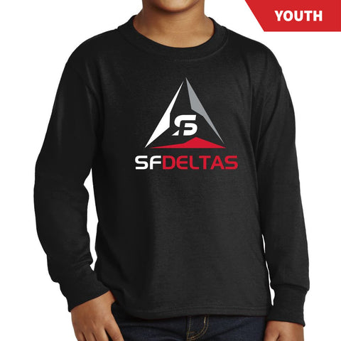SF Deltas Primary Logo Youth Long Sleeve Tee