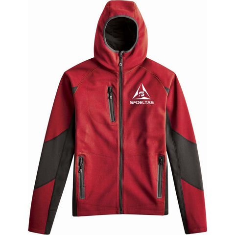 SF Deltas Men's Hooded Phantom Bonded Moisture Wicking Soft Shell Jacket