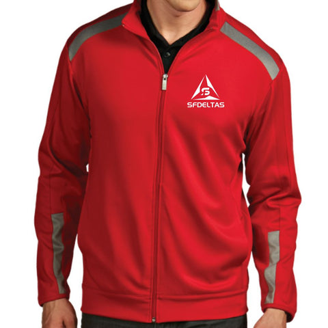 SF Deltas Men's Antigua Full Zip Flight Jacket