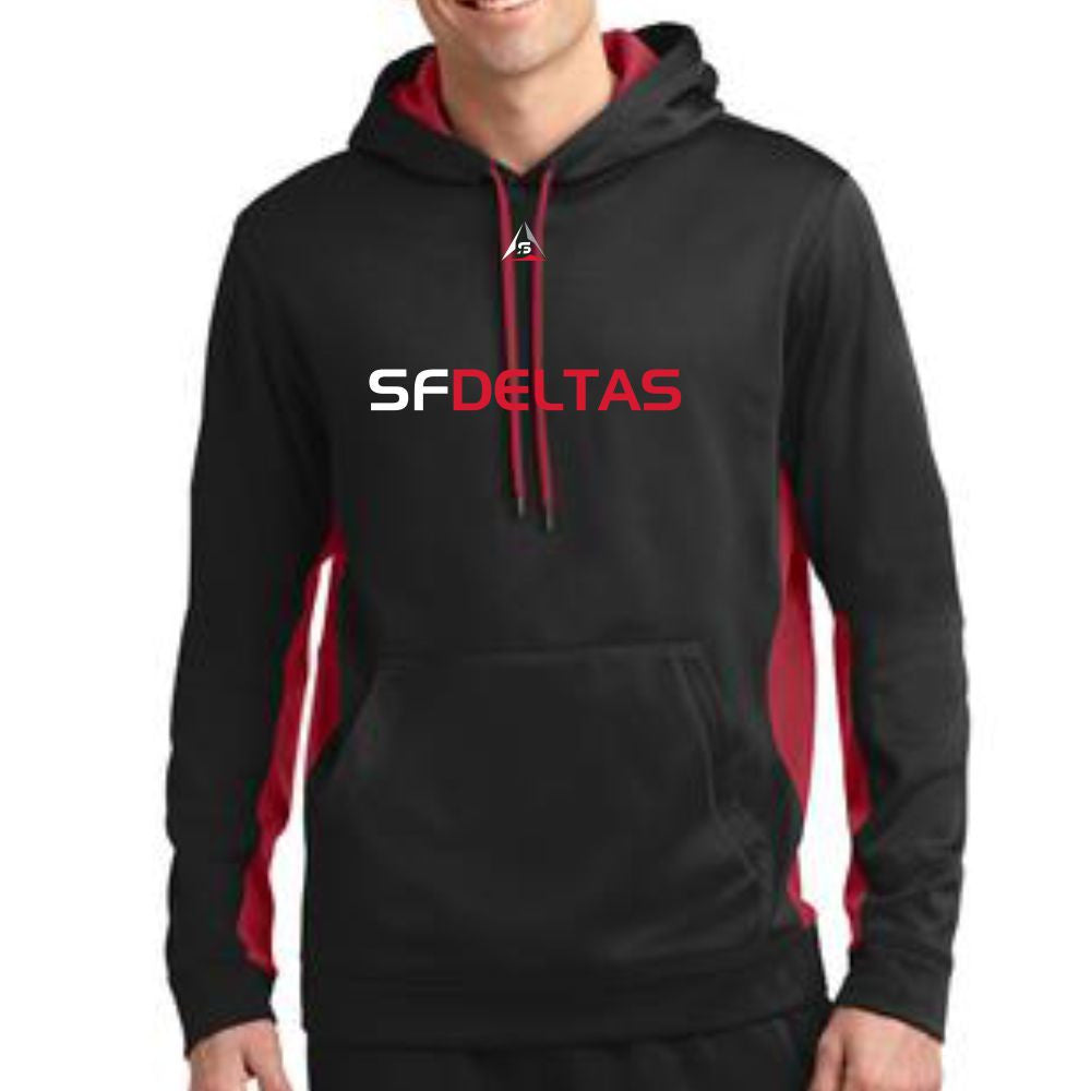 SF Deltas Men's Pullover Color-Block Hoody