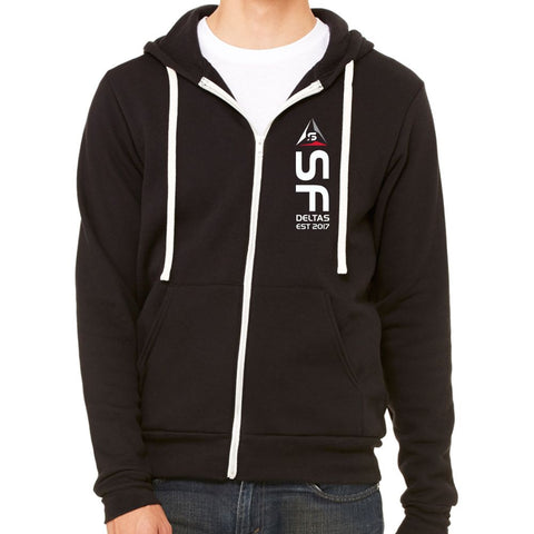 SF Deltas Heavyweight Triblend Full-Zip Hoody