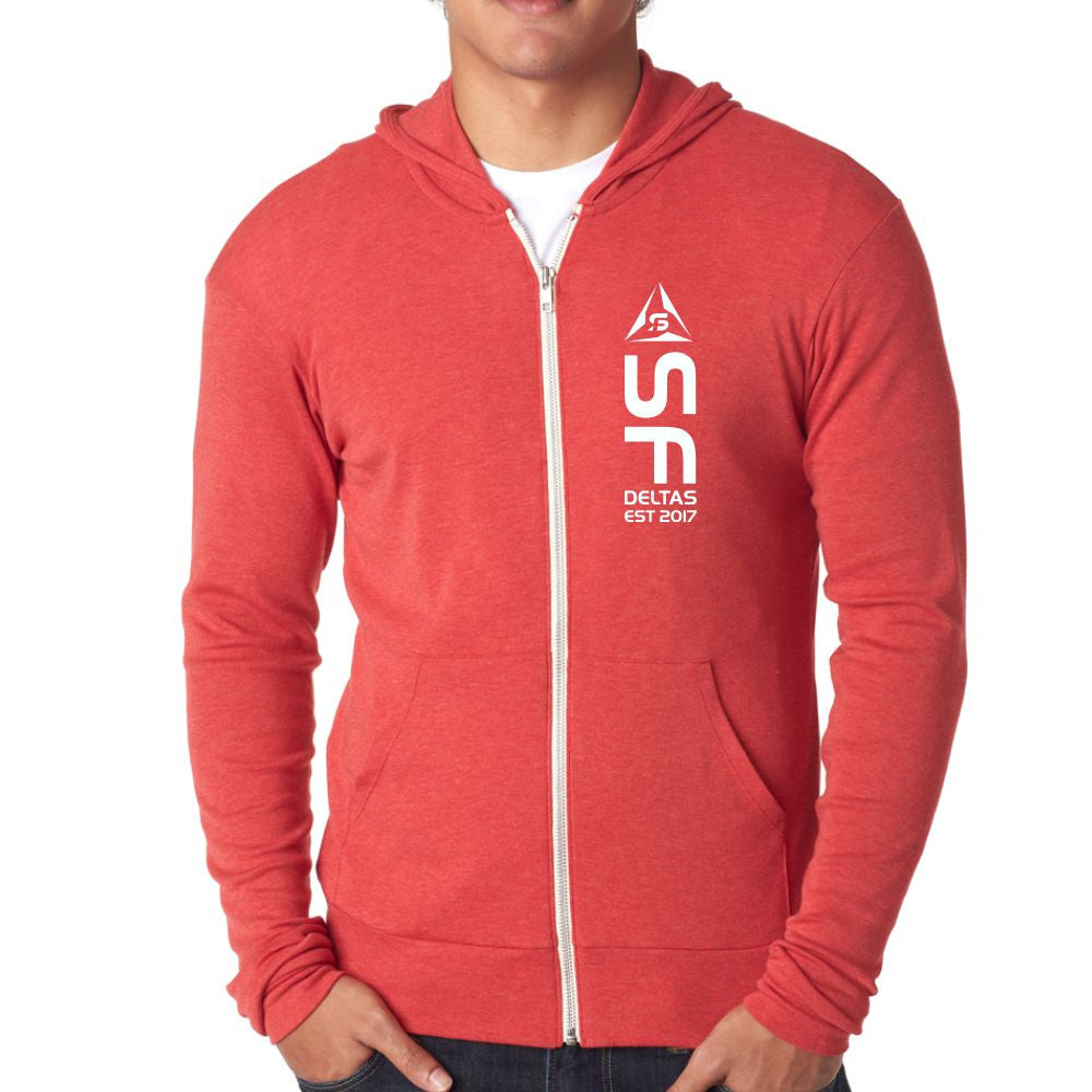 SF Deltas Lightweight Triblend Full-Zip Hoody