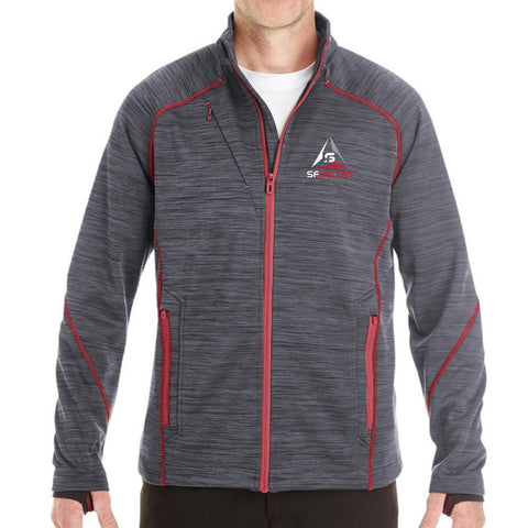 SF Deltas Men's North End Bonded Fleece Jacket - Embroidered
