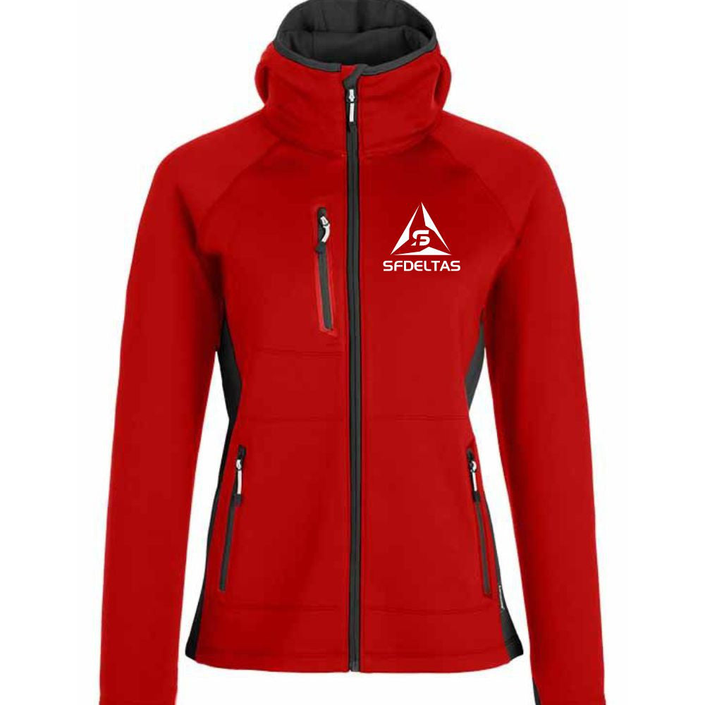 SF Deltas Women's Hooded Phantom Soft Shell Jacket - Embroidered