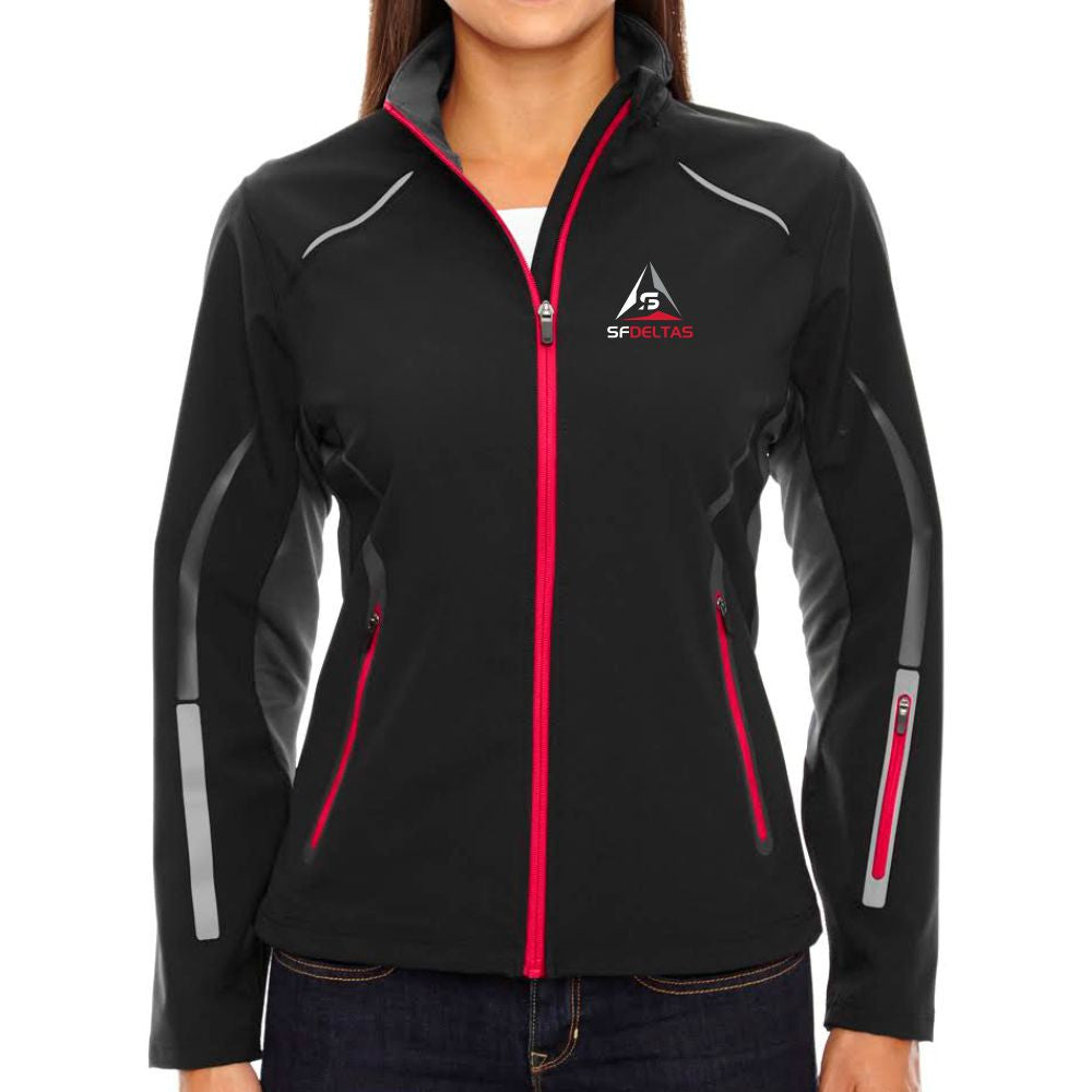 SF Deltas Women's North End Light Soft Shell Jacket - Embroidered