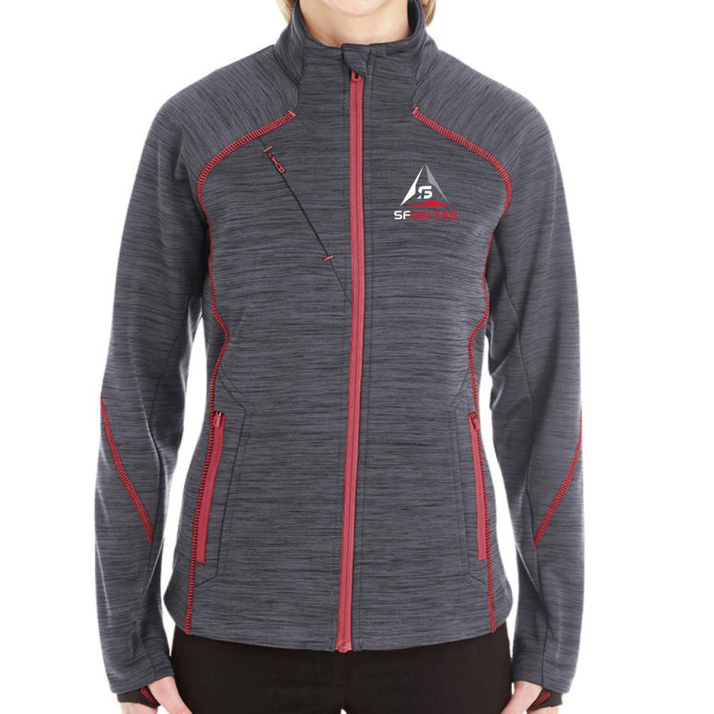 SF Deltas Women's North End Bonded Fleece Jacket - Embroidered