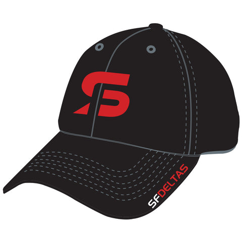 SF Deltas Stretch-to-Fit Hat - Black