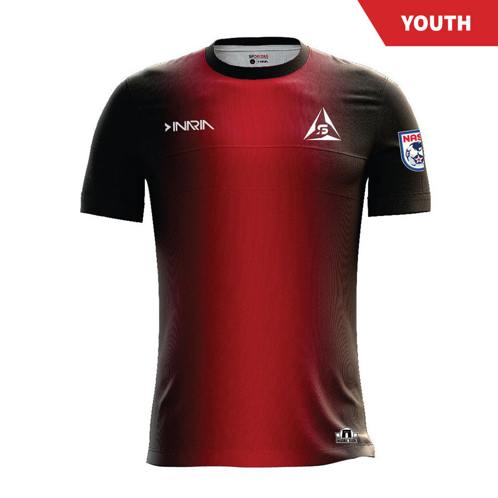SF Deltas 2017 Authentic Inaugural Season Youth Home Jersey - Short Sleeve