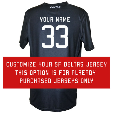 Customize An Already Purchased SF Deltas Jersey
