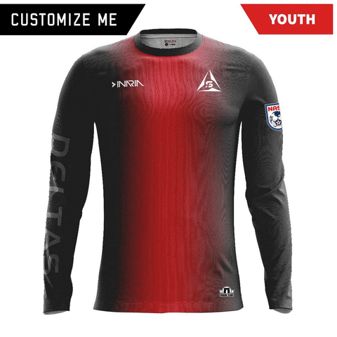 Customizable SF Deltas 2017 Authentic Inaugural Season INARIA Youth Home Jersey - Long Sleeve