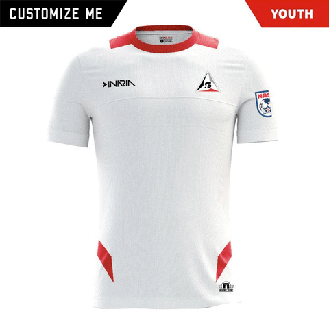 "Customizable SF Deltas 2017 Authentic Inaugural Season INARIA Youth Away Jersey - Short Sleeve <font color=""red""><i>PLUS: Two (2) Free Tickets to a SF Deltas Home Match with Purchase</i></font>"