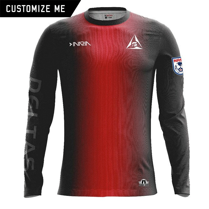 Customizable SF Deltas 2017 Authentic Inaugural Season INARIA Adult Home Jersey - Long Sleeve