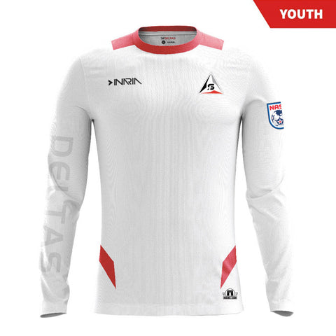 Customizable SF Deltas 2017 Authentic Inaugural Season INARIA Youth Away Jersey - Long Sleeve