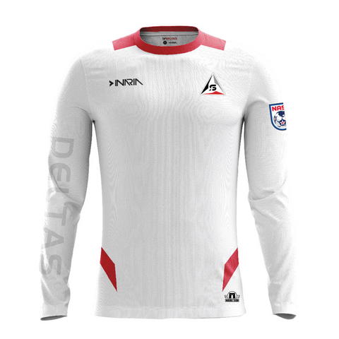 "SF Deltas 2017 Authentic Inaugural Season INARIA Adult Away Jersey - Long Sleeve <font color=""red""><i>PLUS: Two (2) Free Tickets to a SF Deltas Home Match with Purchase</i></font>"