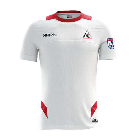 "SF Deltas 2017 Authentic Inaugural Season INARIA Adult White Away Jersey - Short Sleeve - <font color=""red""><i>PLUS: Two (2) Free Tickets to a SF Deltas Home Match with Purchase</i></font>"
