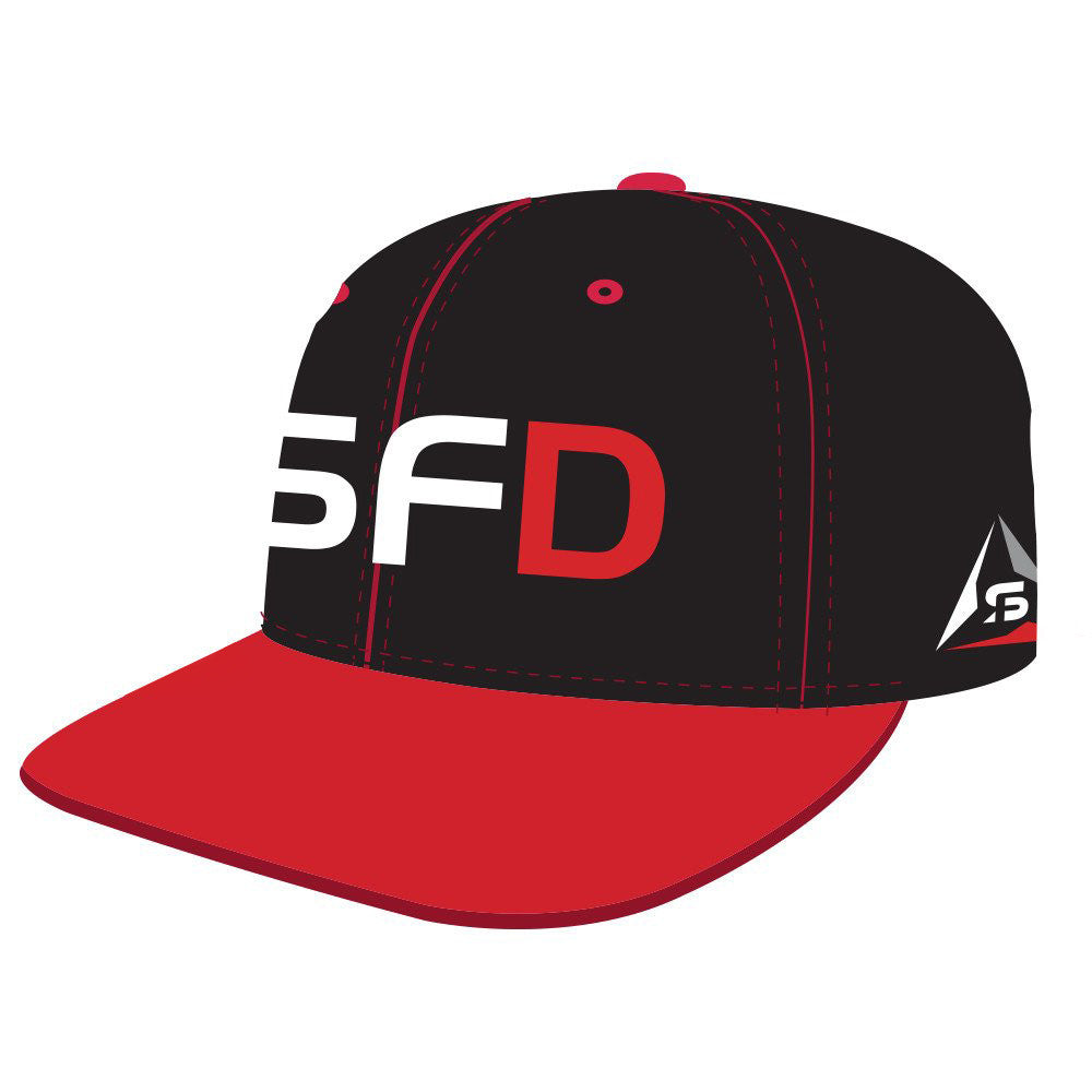 SF Deltas Structured SFD Flat-Brim Hat - Black / Red