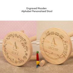 Alphabet Personalised Wooden Stool