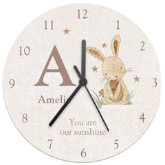 Rabbit Wooden Clock