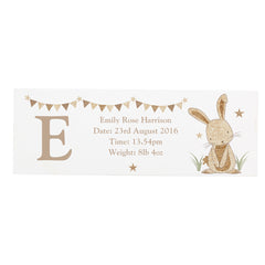 Rabbit Wooden Block Sign