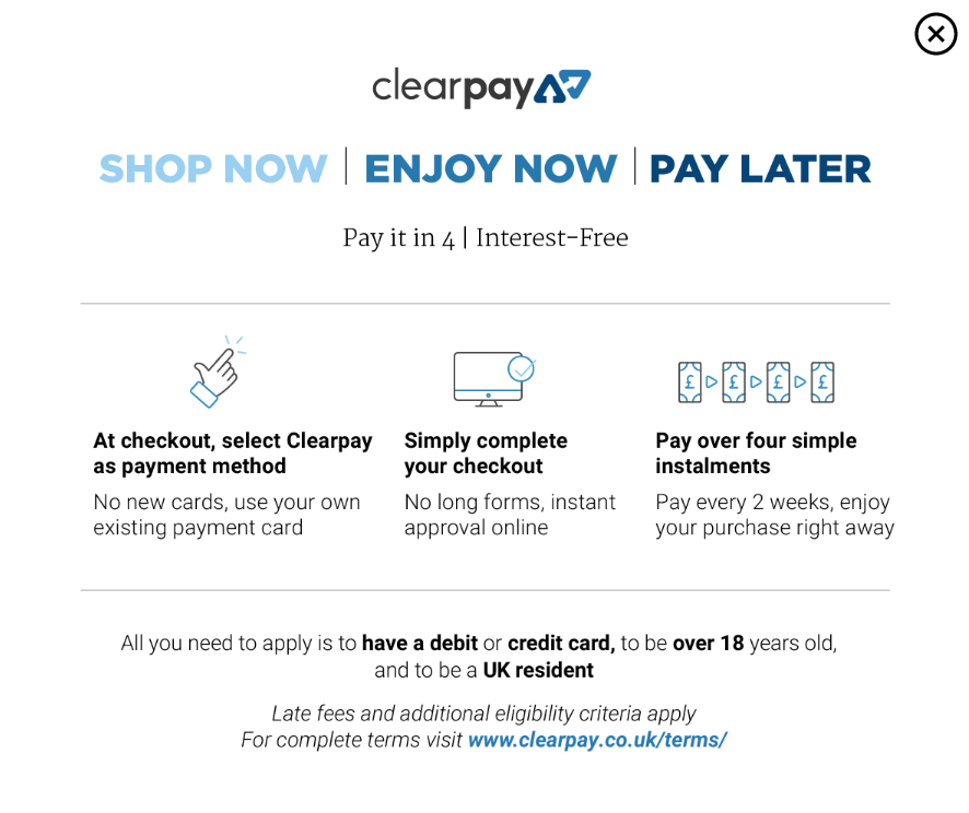 How clearpay works