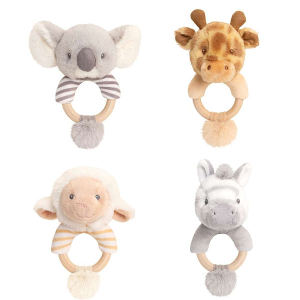 Eco-Friendly Baby Ring Rattle Zebra - Recycled Plastic