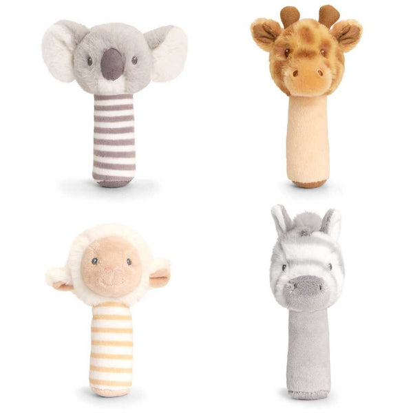 Eco-Friendly Baby Soft Stick Rattle Zebra - Recycled Plastic