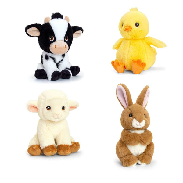 Eco-friendly Cow Soft Cuddly Toy 18cm Recycled Plastic