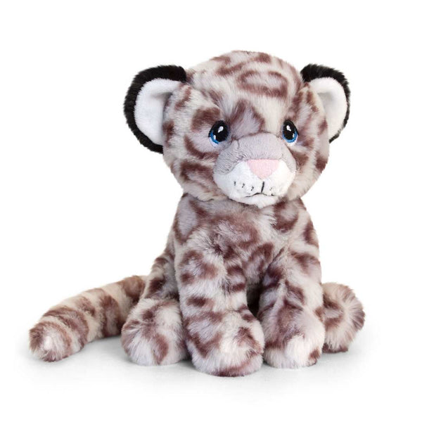 Eco-friendly Snow Leopard Soft Cuddly Toy 18m Recycled Plastic