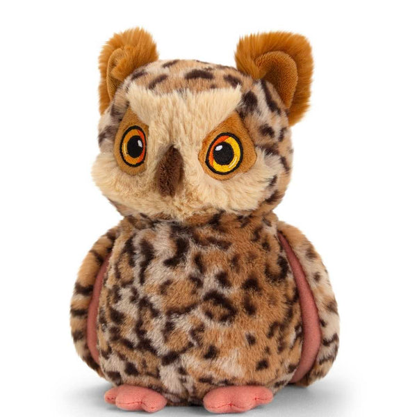 Eco-friendly Owl Soft Cuddly Toy 19cm Recycled Plastic