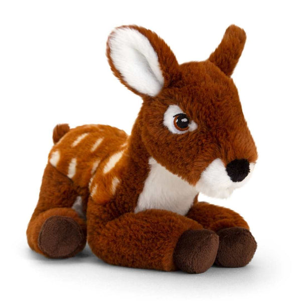 Eco-friendly Deer Soft Cuddly Toy 22cm Recycled Plastic