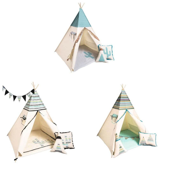 Aztec Pattern Teepee Sets Oeko-Tex®100 Certified (3 design options)