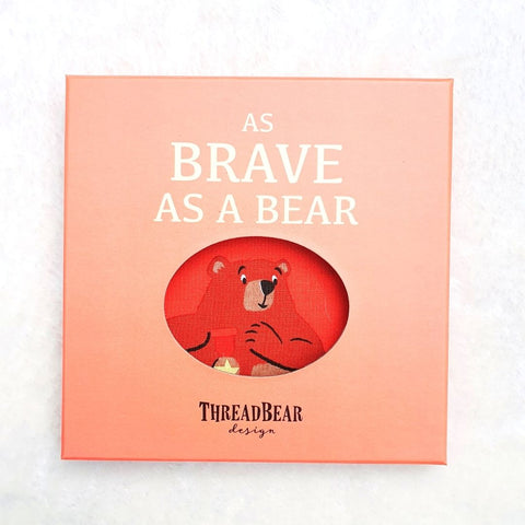 As Brave as a Bear Rag Book in Gift Box