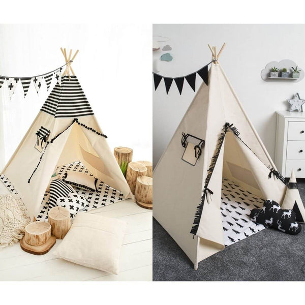 Black and White Teepee Sets Oeko-Tex®100 Certified (2 design options)