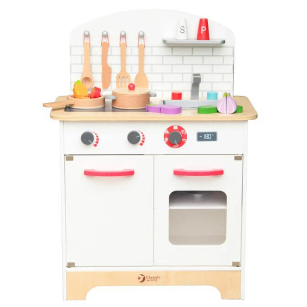 Chef Kitchen Set – Wooden Toy Kitchen for 3 years old kids