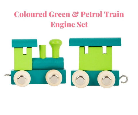 Coloured Train Letters & Engine Sets