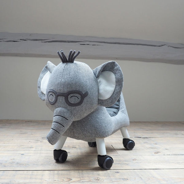 Cuthbert Ride On Elephant toy for 1 year old - PREORDER