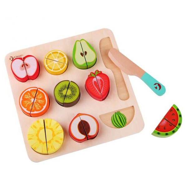 Cutting Fruits Puzzles for 18 months old