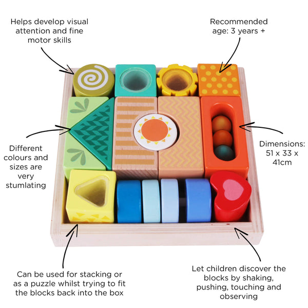 Stimulating Exploration Building Blocks for 3 years old