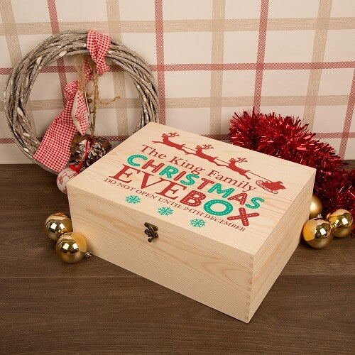 Personalised Family Christmas Eve Box XLarge Sleigh Design test