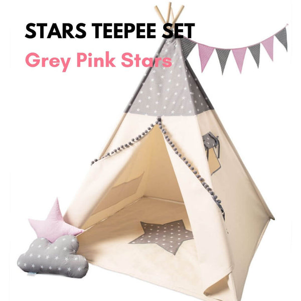Stars Teepee Sets Oeko-Tex®100 Certified (3 design options)