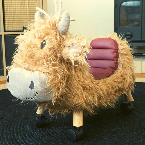 Hubert Ride On Highland Cow by Little Bird Told Me