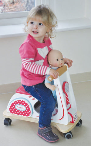 Jamm Scoot Ride On Scooter - White - can be personalised