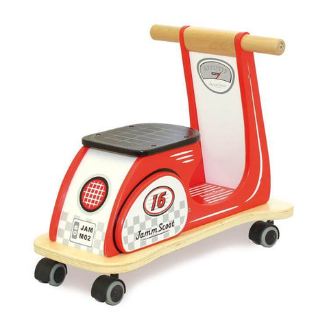 Jamm Scoot Ride On Scooter - Racing Red - can be personalised
