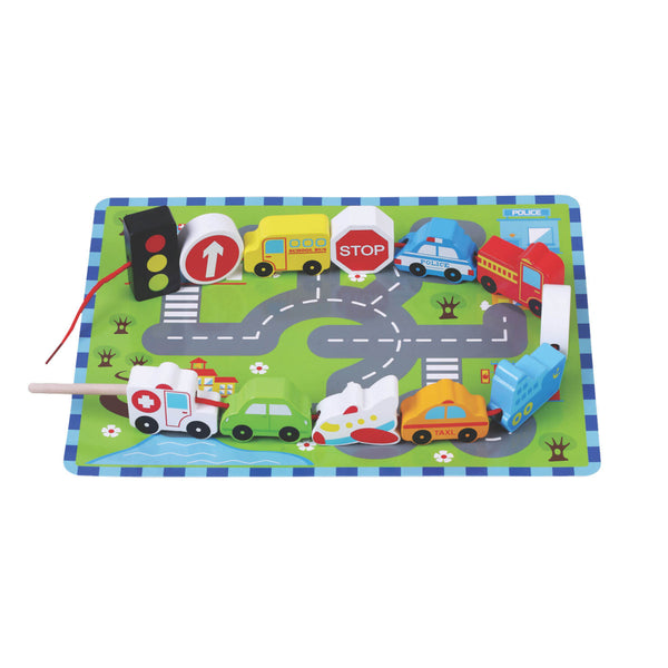 Traffic Vehicles Lacing Game Jumini