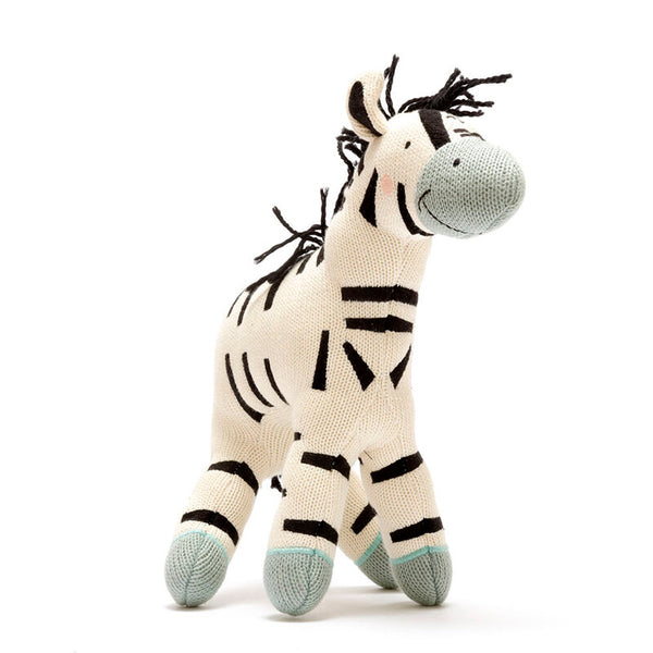 Organic Cotton Zebra Soft Toys Large