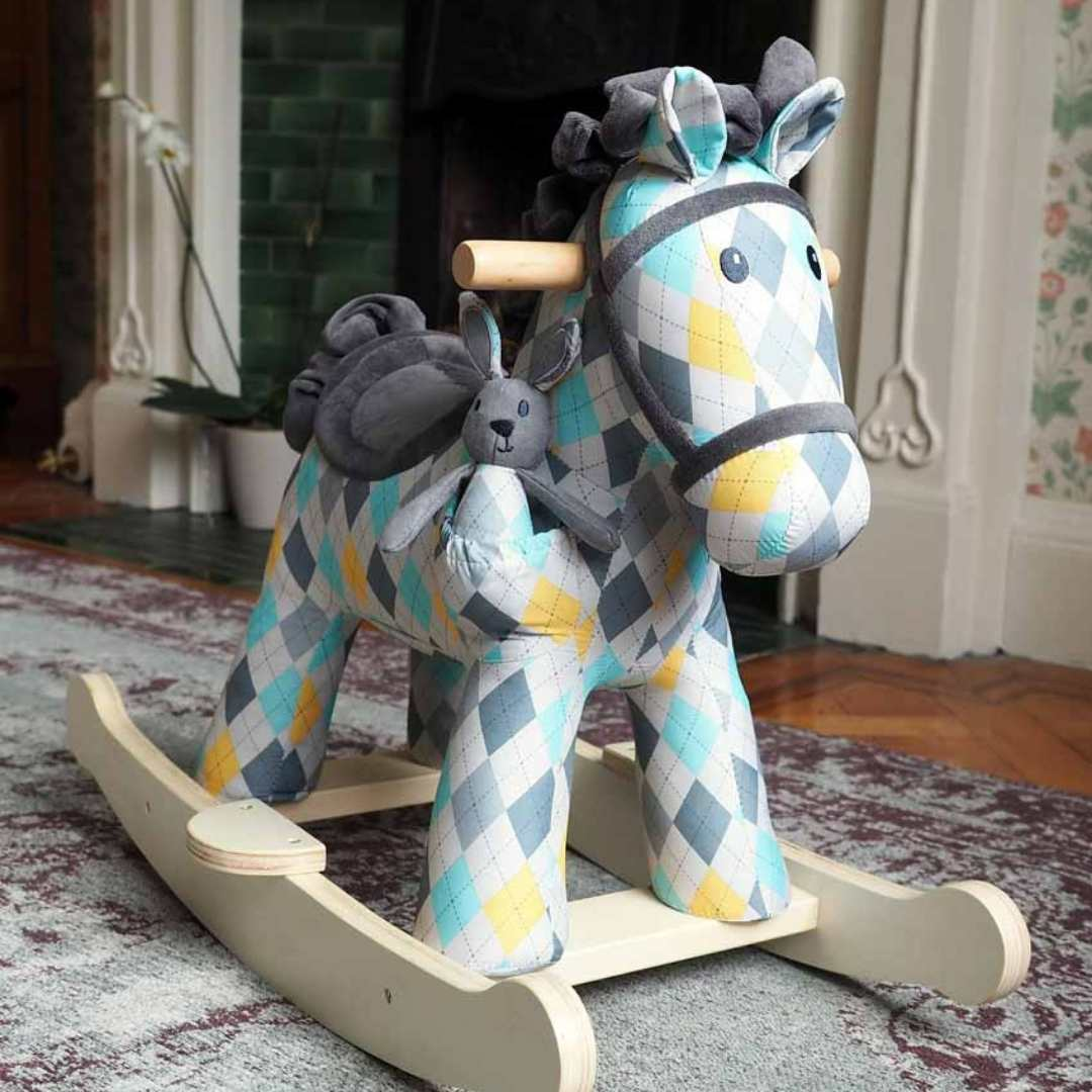 Lewis and Fitz Rocking Horse (9m+) by Little Bird Told Me - PREORDER