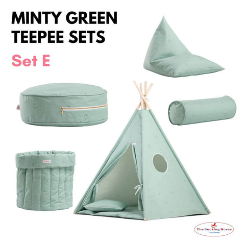 Minty Green Teepee Sets OEKO-TEX®100 Certified